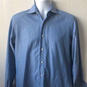 Brioni Long Sleeve Button Down - Blue